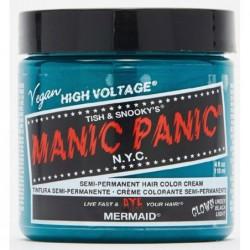 Pusiau ilgalaikiai, kreminiai plaukų dažai Manic Panic Hair Color Cream Neon Mermaid MEU11025, 118 ml