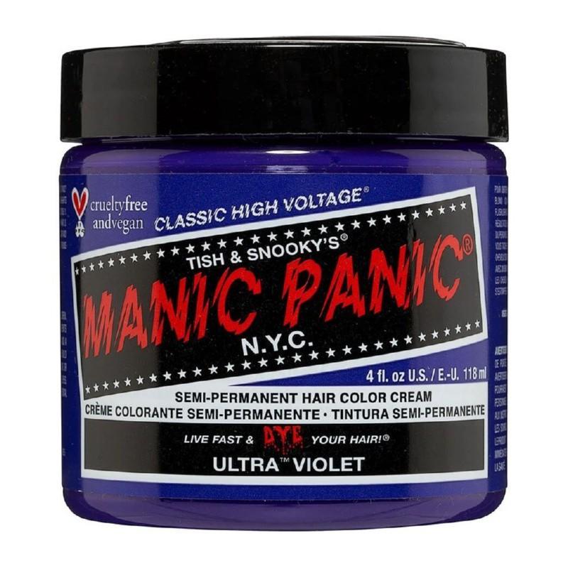 Pusiau ilgalaikiai, kreminiai plaukų dažai Manic Panic Hair Color Cream Ultra Violet MEU11031, 118 ml