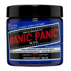 Pusiau ilgalaikiai, kreminiai plaukų dažai Manic Panic Hair Color Cream Rockabilly Blue MEU11039, 118 ml
