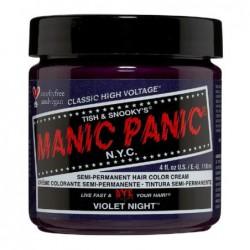 Pusiau ilgalaikiai, kreminiai plaukų dažai Manic Panic Hair Color Cream Violet Night MEU11043, 118 ml