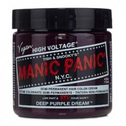 Pusiau ilgalaikiai, kreminiai plaukų dažai Manic Panic Hair Color Cream Deep Purple Dream MEU11048, 118 ml