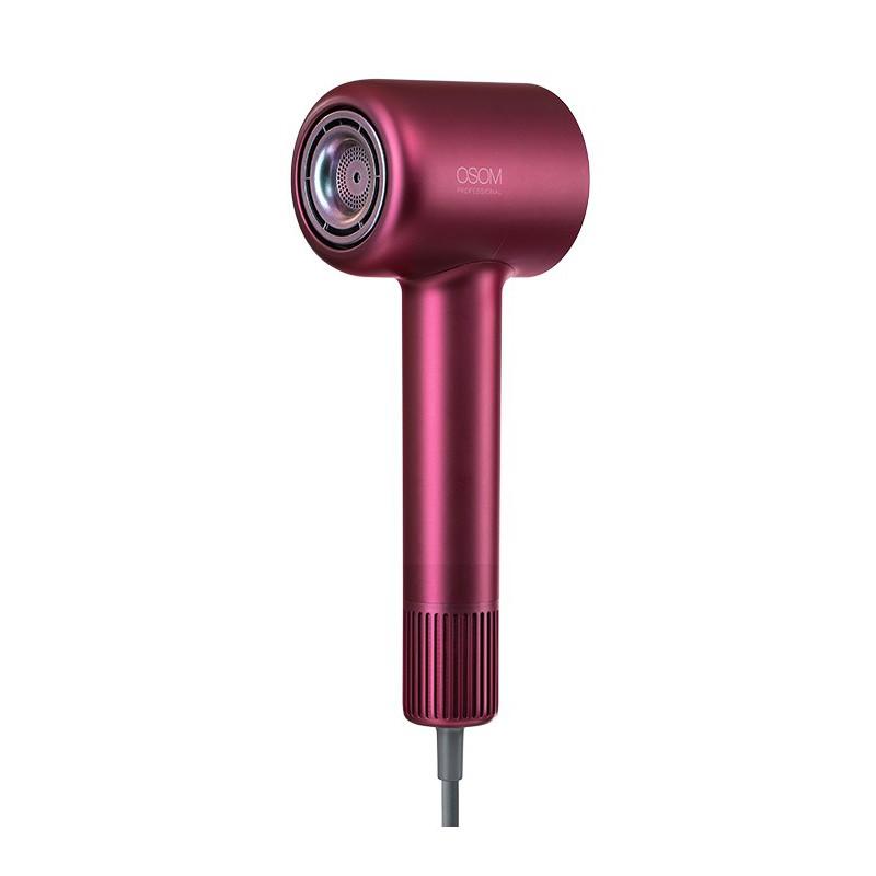 Plaukų džiovintuvas su išmaniąja vandens jonų termostatine technologija Osom Professional, OSOMHL906HD, 1600 W, raudonas