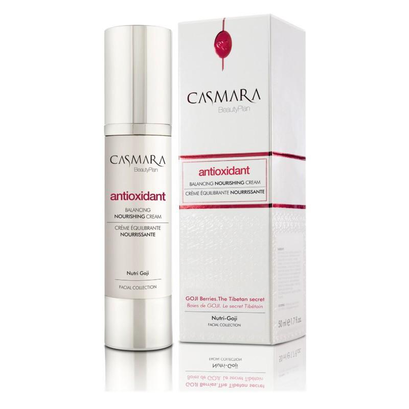 Drėkinamasis veido kremas Casmara Antioxidant Balancing Nourishing Cream CASA40002V, antioksidacinis, su Goji uogų ekstraktu, 50 ml