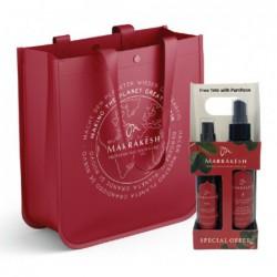 Plaukų priežiūros priemonių rinkinys Marrakesh Original Holiday Bag Deal MKHSGS001, rinkinį sudaro aliejus plaukams Marrakesh Oil, 60 ml ir plaukų iššukavimą lengvinanti priemonė Marrakesh X Leave, 118 ml