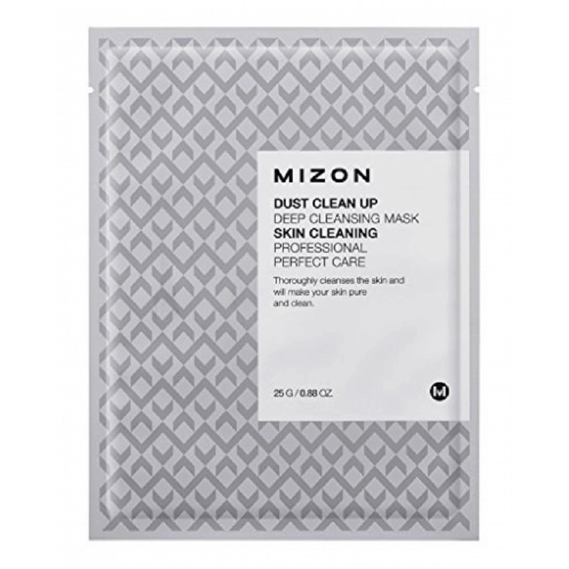 Valomoji veido kaukė Mizon Dust Clean Up Deep Cleansing Mask MIZ000008238, putojanti, efektyviai valo odos nešvarumus, 25 g