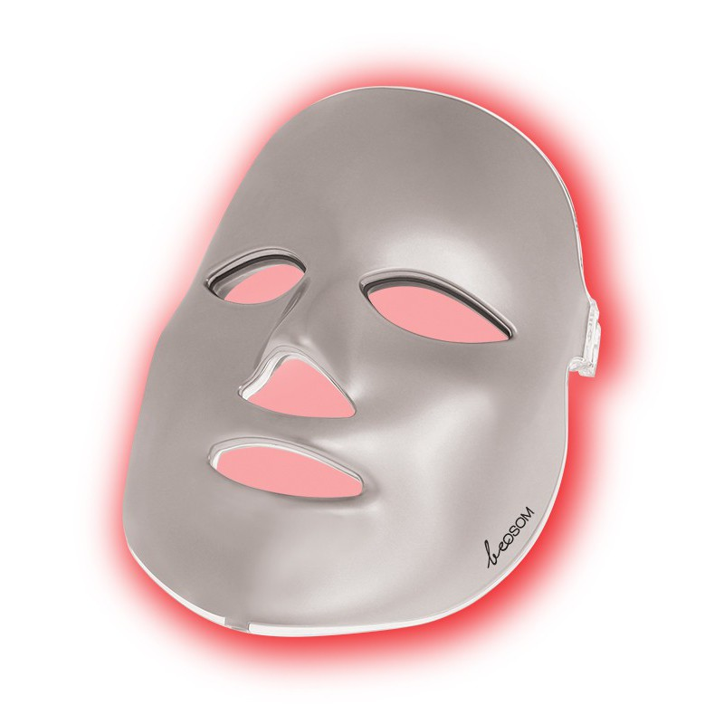 LED šviesos terapijos kaukė veidui Be OSOM Skin Rejuvenation Face Mask Silver BEOSOMSR11SILV, fotodinaminė šviesos terapija