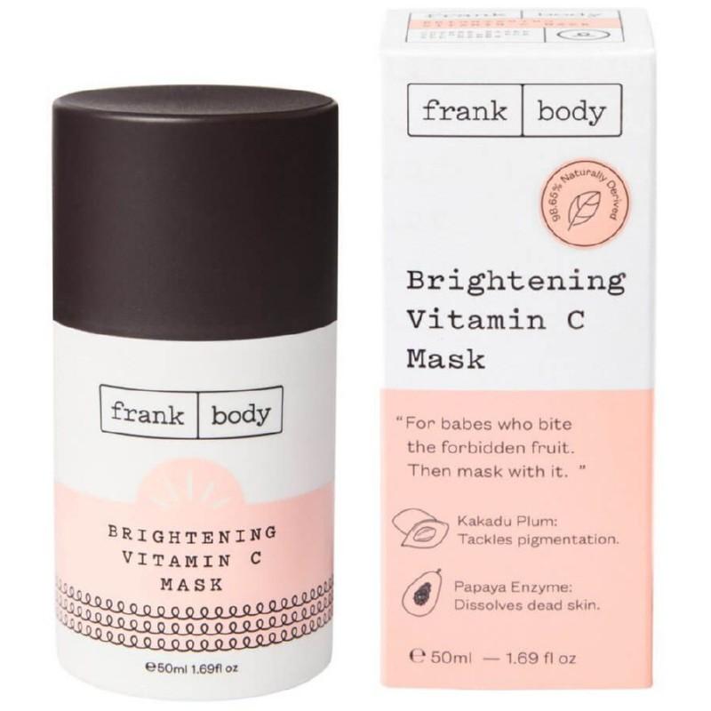 Veido kaukė Frank Body Vitamin C Mask FVC050BAE, skaistina odą, su vitaminu C, 50 ml