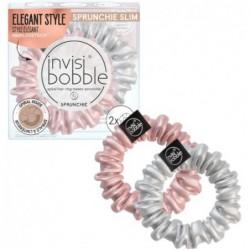 Gumytės plaukams Invisibobble Sprunchie Slim Bella Chrome IB-SPSL-HP10002, 2 vnt.