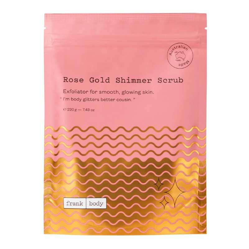 Kūno šveitiklis Frank Body Rose Gold Shimmer Scrub SRS220BAE, 220 g.