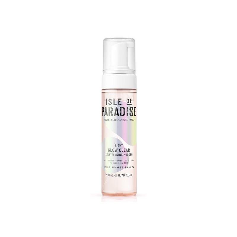 Skaistinančios odą savaiminio įdegio putos Isle Of Paradise Light Glow Clear Self Tanning Mousse IP890024, pagamintos vandens pagrindu, drėkina odą, 200 ml