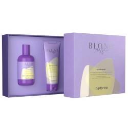 Plaukų priežiūros priemonių rinkinys Inebrya Blondesse Anti-Yellow Kit ICE26238, rinkinį sudaro: šampūnas šviesiems plaukams Inebrya Blondesse No-Yellow Shampoo, 300 ml ir kaukė šviesiems plaukams Inebrya Blondesse No-Yellow Mask, 250 ml