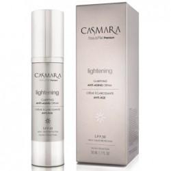Veido odą skaistinantis ir odos senėjimą stabdantis kremas Casmara Lightening - Clarifying Anti-aging Cream CASA31001, SPF 50, 50 ml