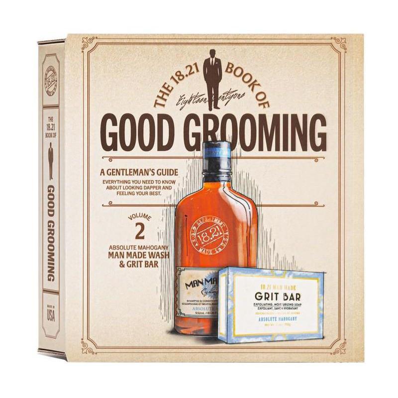 Plaukų ir kūno priežiūros priemonių rinkinys vyrams 18.21 Man Made Faux Book Gift Set Absolute Mahogany GSV2AM