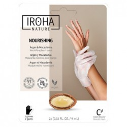 Profesionali kaukė rankoms Iroha Professional Xtra Soft Dry Hands Argan Hand & Nails Gloves INPHM01/INHAND4, su argano aliejumi, 1 pora