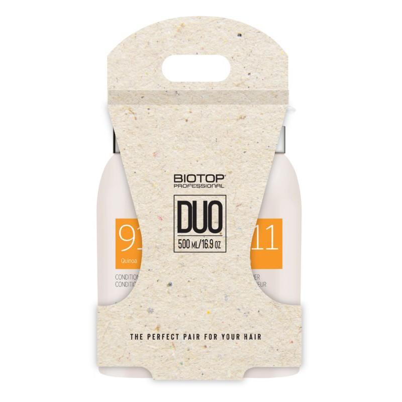 Plaukų priežiūros priemonių rinkinys BIOTOP Professional 911 Quinoa Duo Kit BIO83568, rinkinį sudaro: plaukų šampūnas, 500 ml, ir plaukų kondicionierius, 500 ml