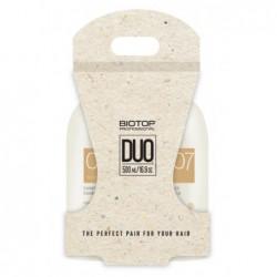 Plaukų priežiūros priemonių rinkinys BIOTOP Professional 007 Keratin Duo Kit BIO83569, rinkinį sudaro: plaukų šampūnas, 500 ml, ir plaukų kondicionierius, 500 ml