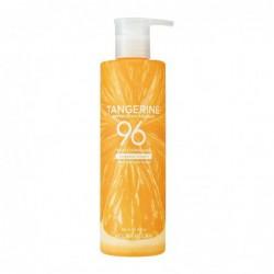 Raminantis ir atgaivinantis mandarinų kvapo gelis kūnui ir veido odai Holika Holika Tangerine Refreshing Essence 96% Soothing Gel HH20019161, 390 ml