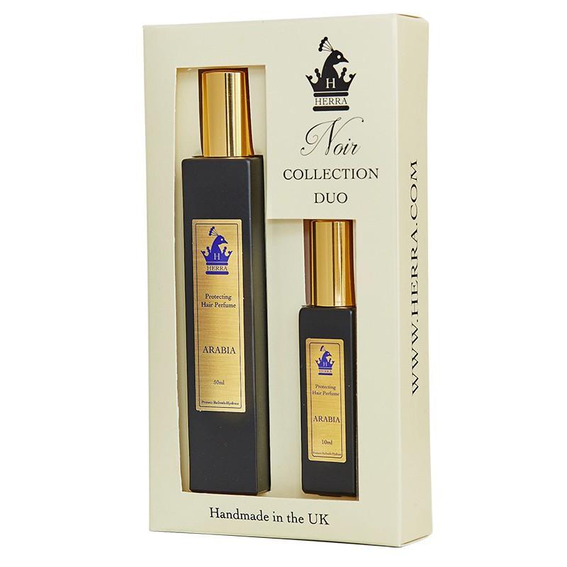 Kvepalų plaukams rinkinys Herra Arabia Duo Set HERRA72039, apsaugantis ir drėkinantis plaukus, 50 ml + 10 ml