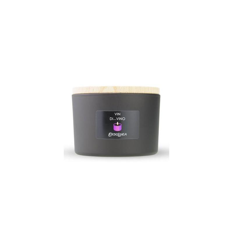 Aromatinė žvakė Erbolinea Candela In Vetro Vin Di Vino ERBCANVIN, 140 g