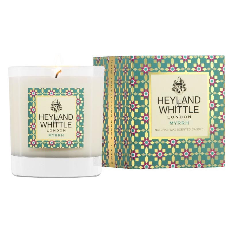Aromatinė žvakė Heyland & Whittle Candle In A Glass Myrrh HW108, 230 g.
