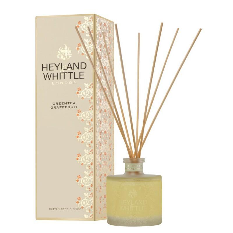 Kvapas namams su lazdelėmis Heyland & Whittle Gold Classic Greentea Grapefruit Reed Diffuser HW314, 200 ml