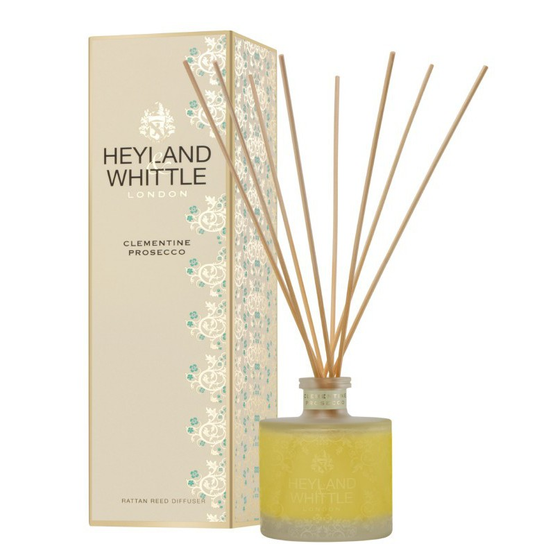 Kvapas namams su lazdelėmis Heyland & Whittle Gold Classic Clementine Prosecco Reed Diffuser HW319, 200 ml