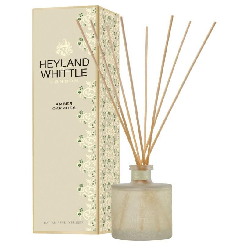 Kvapas namams su lazdelėmis Heyland & Whittle Gold Classic Amber Oakmoss Reed Diffuser HW691, 200 ml