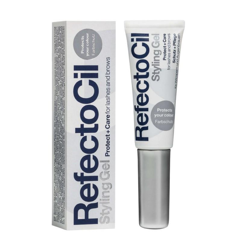Apsauginė, stiprinamoji priemonė antakiams ir blakstienoms RefectoCil Styling Gel REF6196, tinka kasdienei blakstienų ir antakių priežiūrai, 9 ml