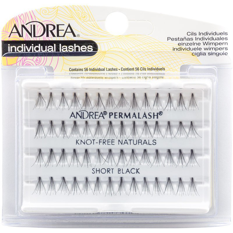 Blakstienos kuokšteliais Andrea Individual Lashes Short Black 26410, S dydžio, 56 vnt.