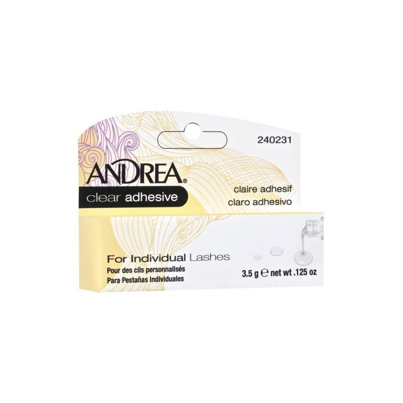 Klijai blakstienų kuokšteliams Andea Clear Adhesive for Individual Lashes 240231, bespalviai-skaidrūs, 3,5 g
