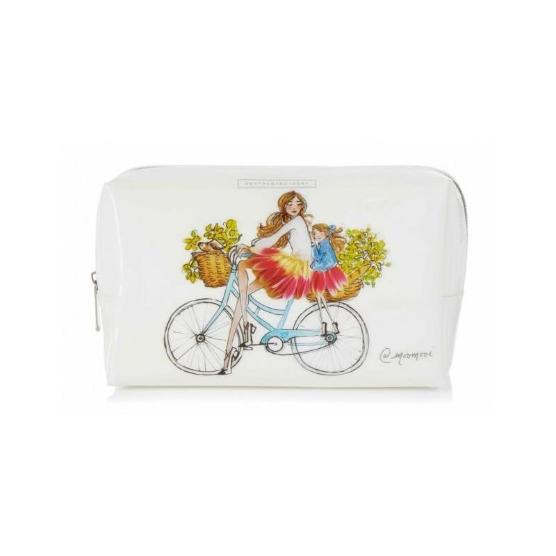 Kosmetinė Heathcote & Ivory Meredith Wing Large Cosmetic Bag, MWFG9330, balta