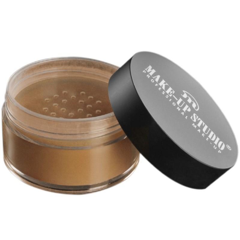Makiažą fiksuojanti pudra su švytėjimu Make Up Studio Gold Reflecting Powder Gold PH10911G, 15 g.