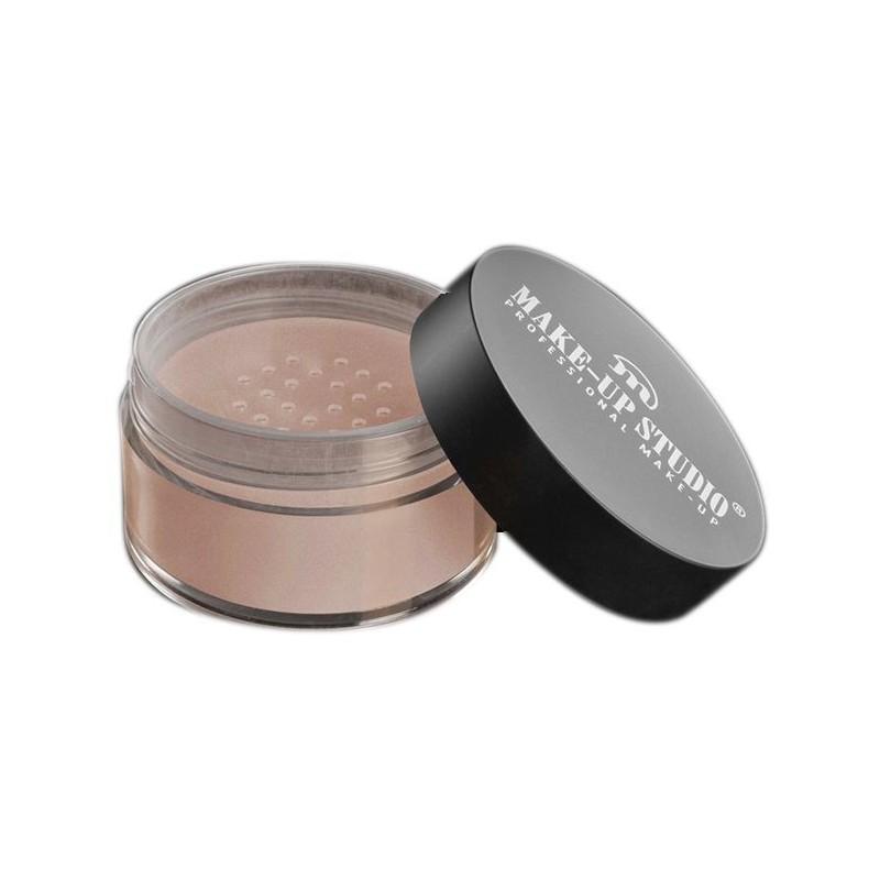 Makiažą fiksuojanti pudra su švytėjimu Make Up Studio Gold Reflecting Powder Golden Pink PH10911GP, 15 g.