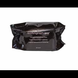 Drėgnos servetėlės makiažui valyti Bodyography Cleansing And Soothing Wipes BDPS01, 50 vnt.