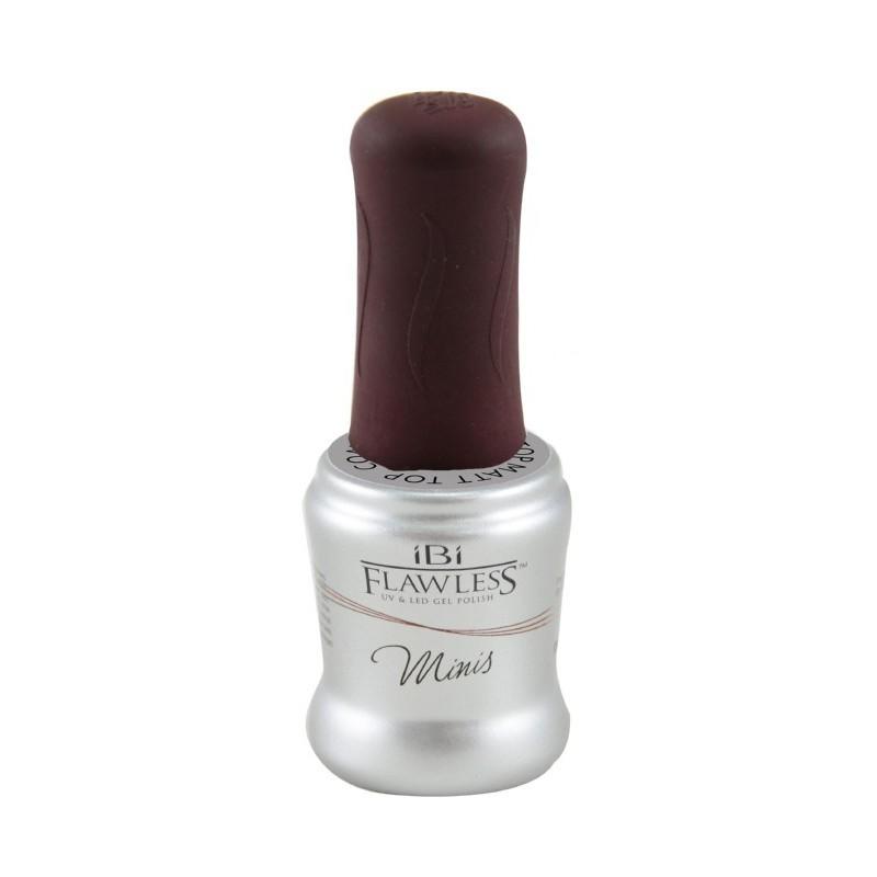 Matinis nagų gelio-lako viršutinis sluoksnis IBI Flawless Matte Top Coat FM005, 8 ml mini