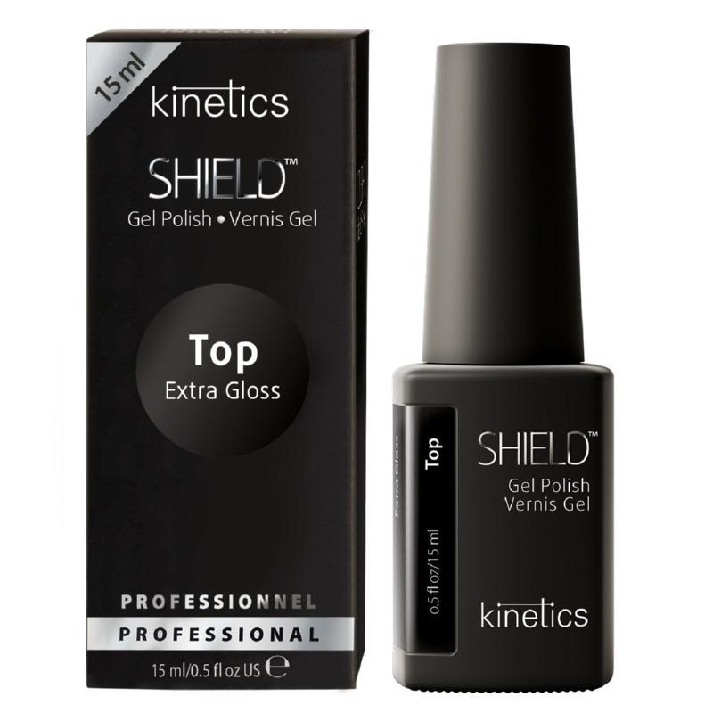 Gelio-lako viršutinis sluoksnis Kinetics Shield Extra Top Coat KGPTEN, 15 ml