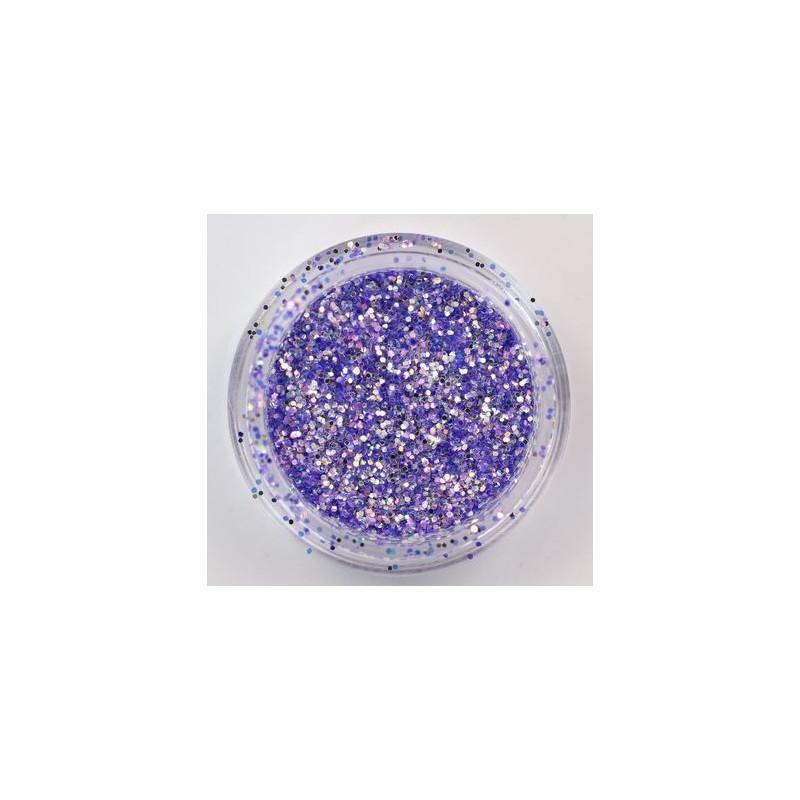 Birios dulkelės nagų dekoravimui Nailway Nail Glitter AGLT16-08, 2g, tamsiai violetinės spalvos
