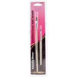 Teptukų rinkinys Amazing Shine Professional Nail Brush AMZ/317 lakavimui ir nagų dailei, 2 vnt.