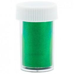 Dekoratyvinė folija nagams Nail Foils nagų dailei 65, žalia-blizgi