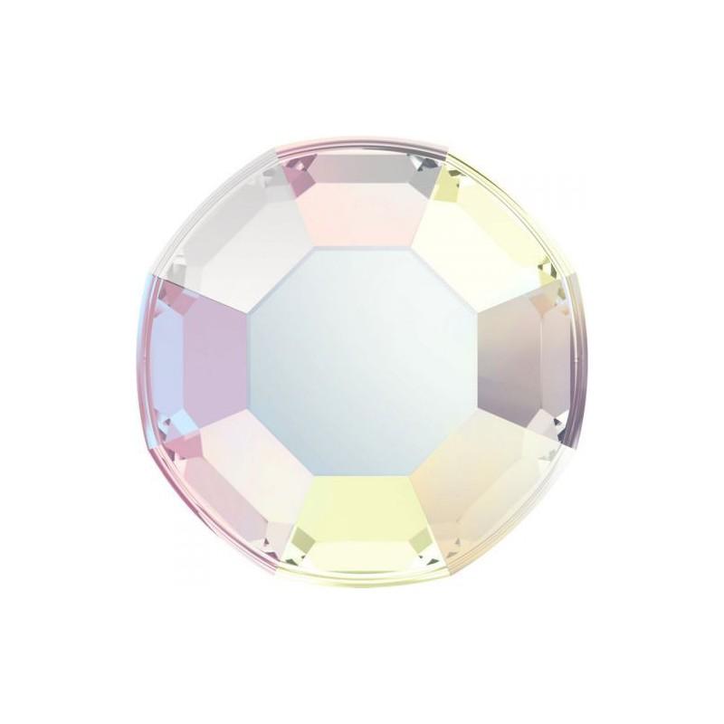 Kristalai nagų dailei Swarovski Flat Back SW847270, SS 3 , Crystal Aurore Boreale 001 AB, 50 vnt