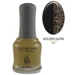 Nagų lakas IBI Illusions Color Collection NL100 Golden Glow, 18 ml