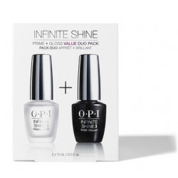 Rinkinys - Hibridinio nagų lako pagrindas ir viršutinis sluoksnis OPI Infinite Shine Duo Pack Base Coat & Top Coat OPIIST80, 2x15 ml