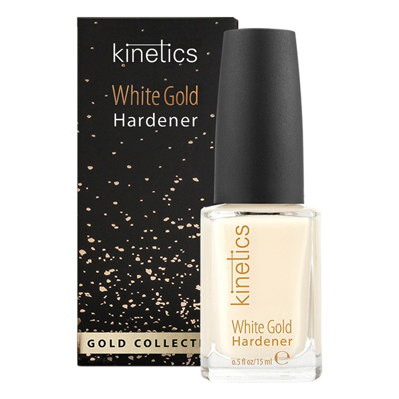 Baltojo aukso stipriklis nagams Kinetics White Gold Hardener KGC01, 15 ml