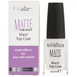 Viršutinė nagų lako danga Kinetics Matte One Night Matt Top Coat KMAT, matinė, 15 ml