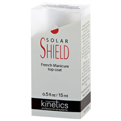 Viršutinė nagų lako danga prancūziškam manikiūrui Kinetics Solar Shied Fresh Manicure Top Coat, 15 ml