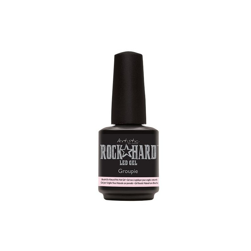 Natūralios rausvos spalvos gelinis nagų lakas–stipriklis Artistic Groupie Brush On Natural Pink Gel ART02206, 15 ml