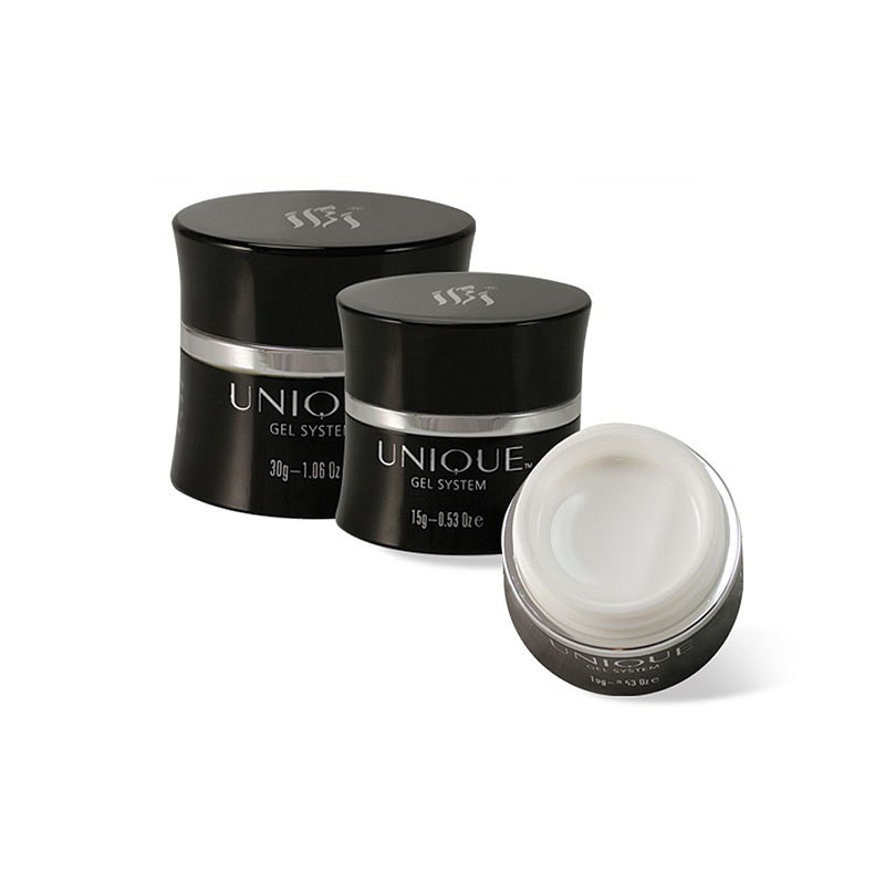 Gelis IBI Unique French White Gel UN10-15 prancūziškam manikiūrui, ypatingai baltas, 15 g