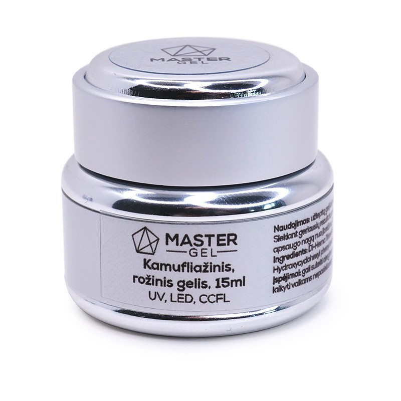 Gelis MasterGel MG021715, kamufliažinis, rožinis, 15 ml