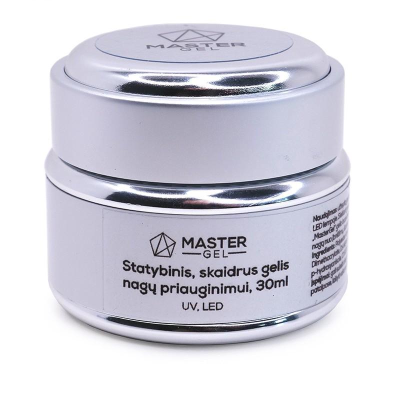 Gelis nagų priauginimui Master Gel Builder Gel Clear MG023330, statybinis, skaidrus, 30 ml