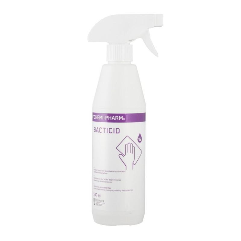 Priemonė greitai paviršių dezinfekcijai Chemi-Pharm Bacticid K, CHEM006, 500 ml